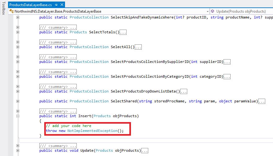 Data Layer Code