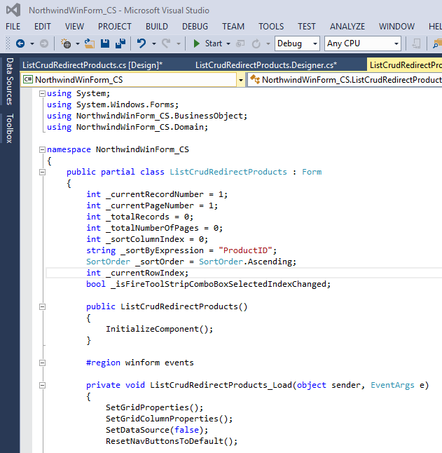 WinFormsGen Product Screenshots